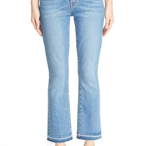 Derek Lam 10 Crosby Gia Mid-Rise Cropped Flares